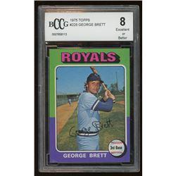 1975 Topps #228 George Brett RC (BCCG 8)