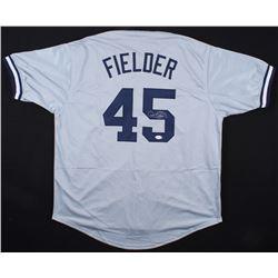 "Cecil Fielder Signed Yankees ""Big Daddy"" Jersey (JSA COA)"