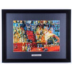 "LeRoy Neiman ""Irish American Bar"" 17x22 Custom Framed Print Display"