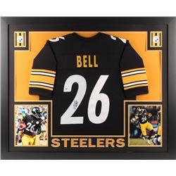 Le'Veon Bell Signed Steelers 35x43 Custom Framed Jersey (Beckett COA)