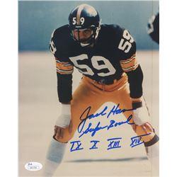 "Jack Ham Signed Steelers 8x10 Photo Inscribed ""Super Bowl IX, X, XIII, XIV"" (JSA COA)"
