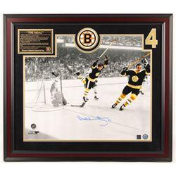 "Bobby Orr Signed Bruins ""The Goal"" 27.5x31.75 Custom Framed Photo Display (Great North Road COA)"