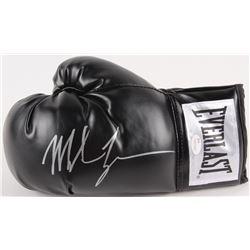 Mike Tyson Signed Black Everlast Boxing Glove (JSA COA)