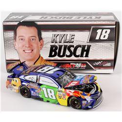 Kyle Busch Signed NASCAR #18 2017 MM Brand Caramel Color Chrome Camry - 1:24 Premium Action Diecast