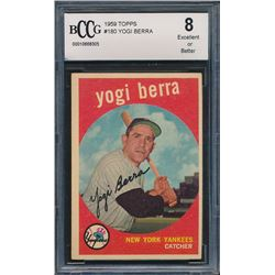 1959 Topps #180 Yogi Berra (BCCG 8)