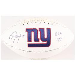 """Lawrence Taylor Signed Giants Logo Football Inscribed """"HOF 99"""" (Radtke Hologram)"""