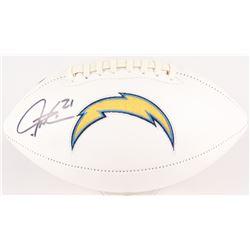 LaDainian Tomlinson Signed Chargers Logo Football (Tomlinson Hologram)