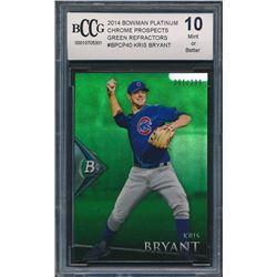 2014 Bowman Platinum Chrome Prospects Green Refractors #BPCP40 Kris Bryant (BCCG 10)