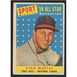 1958 Topps #476 Stan Musial All-Star TP