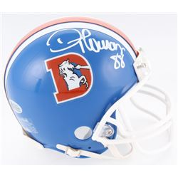 Demaryius Thomas Signed Broncos Throwback Mini Helmet (Beckett COA)