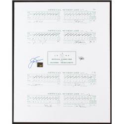 Jack Nicklaus Signed 16x20 Uncut 1986 Masters Scorecard Sheets (Fanatics Hologram  Nicklaus Hologram