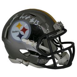 James Washington Signed Steelers Chrome Mini Speed Helmet (JSA COA)
