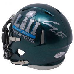 Corey Clement Signed Eagles Super Bowl LII Champions Speed Mini Helmet (JSA COA)