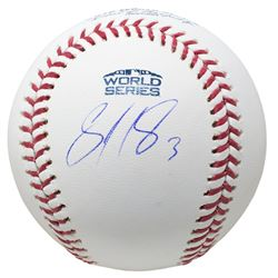 Sandy Leon Signed 2018 World Series Logo Baseball (JSA COA)
