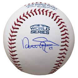 Nathan Eovaldi Signed 2018 World Series Logo Baseball (JSA COA)