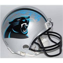 Steve Smith Sr. Signed Panthers Mini-Helmet (Smith Hologram)