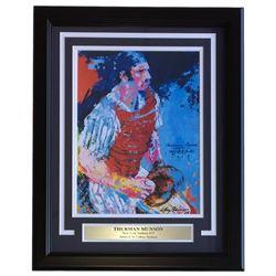 "Leroy Neiman ""Thurman Munson"" 16x20 Custom Framed Print Display"