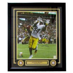 Antonio Brown Signed Steelers 22x27 Custom Framed Photo Display (JSA COA)