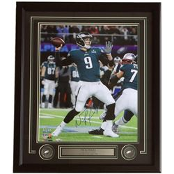 Nick Foles Signed Eagles 22x27 Custom Framed Photo Display (Fanatics Hologram)