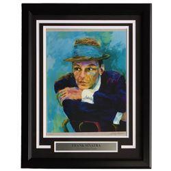"Leroy Neiman ""Frank Sinatra"" 16x21 Custom Framed Print Display"