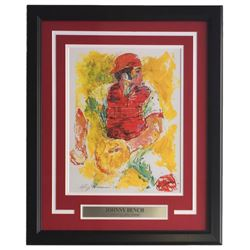"Leroy Neiman ""Johhny Bench"" 18x22 Custom Framed Print Display"