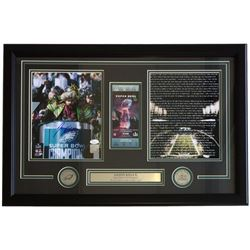 Jason Kelce Signed Eagles 18x28 Custom Framed Photo Display (JSA COA)