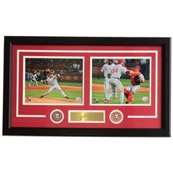 Roy Halladay Phillies 16x27 Custom Framed Photo Display