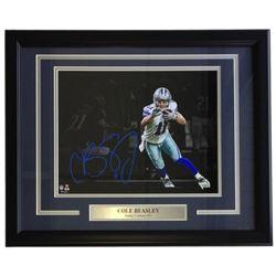 Cole Beasley Signed Cowboys 16x20 Custom Framed Photo Display (Fanatics Hologram)
