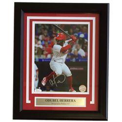 Odubel Herrera Signed Phillies 11x14 Custom Framed Photo Display (JSA COA)
