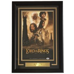 """Sean Astin Signed """"The Lord of the Rings"""" 18x27 Custom Framed Movie Poster Display (PSA COA)"""
