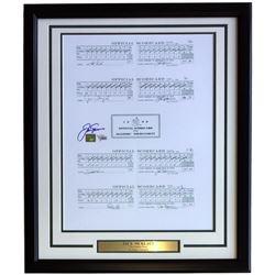 Jack Nicklaus Signed 22x27 Custom Framed Score Card Photo Display (Fanatics Hologram)