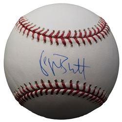 George Brett Signed OAL Baseball with Display Case (Beckett COA)