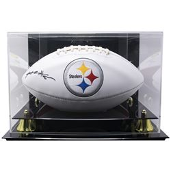 Antonio Brown Signed Steelers Logo Football with High Quality Display Case (JSA COA)