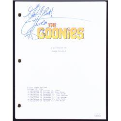 "Corey Feldman Signed ""The Goonies"" Full Movie Script with Inscription (JSA COA)"