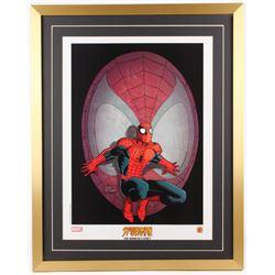 "Spiderman ""The Romita Legacy"" 24x30 Custom Framed Animation Serigraph Cel"