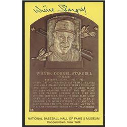 Willie Stargell Signed Hall of Fame Plaque Postcard (JSA COA)