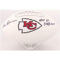 "Len Dawson Signed Chiefs Logo Football Inscribed ""SB IV MVP""  ""HOF 87"" (Radtke COA)"