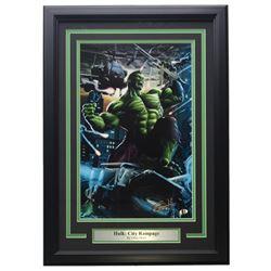 "Greg Horn Signed ""Hulk: City Rampage"" 15x21 Custom Framed Lithograph Display (Sports Integrity COA)"