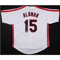 "Sandy Alomar Jr.Signed Indians ""Sandy"" Jersey Inscribed ""90 ROY"" (JSA COA)"