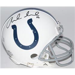 Andrew Luck Signed Colts Mini-Helmet (Panini COA)