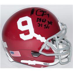 "Amari Cooper Signed Alabama Crimson Tide Mini-Helmet Inscribed ""3463 YDs""  ""31 TDs"" (Radtke COA)"