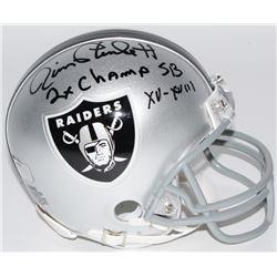 "Jim Plunkett Signed Raiders Mini-Helmet Inscribed ""2x Champ SB XV-XVIII"" (Radtke COA)"