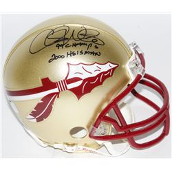 "Chris Weinke Signed Florida State Seminoles Mini-Helmet Inscribed ""99 Champs""  ""2000 Heisman"" (Radtk"