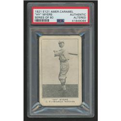 1921 E121 American Caramel Series of 80 #66 Hy Myers (PSA Authentic)
