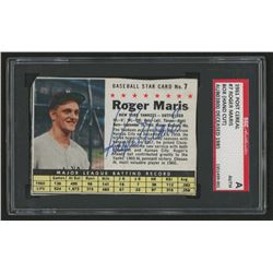 Roger Maris Signed 1961 Post #7B BOX (SGC Encapsulated)