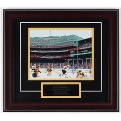 Tim Thomas Signed Bruins 16x18 Custom Framed Photo Display (Thomas Hologram)
