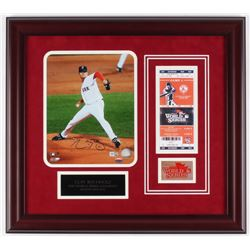 Clay Buchholz Signed Red Sox 19x21 Custom Framed Photo Display (MLB Hologram)