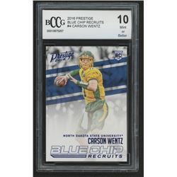 2016 Prestige Blue Chip Recruits #4 Carson Wentz (BCCG 10)