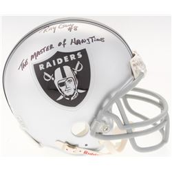 "Ray Guy Signed Raiders Mini-Helmet Inscribed ""The Master of Hangtime"" (Radtke COA)"