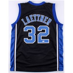 "Christian Laettner Signed Duke Blue Devils ""The Shot"" Jersey (JSA Hologram)"